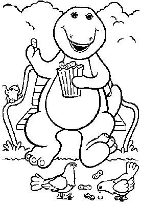 Dibujos Del Dinosaurio Barney Para Colorear