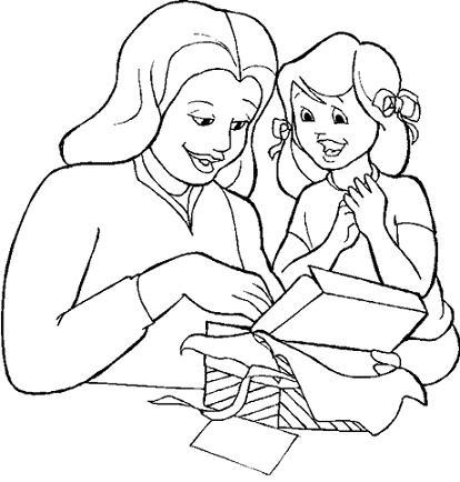 Dibujos Para Colorear En El Día De La Madre I