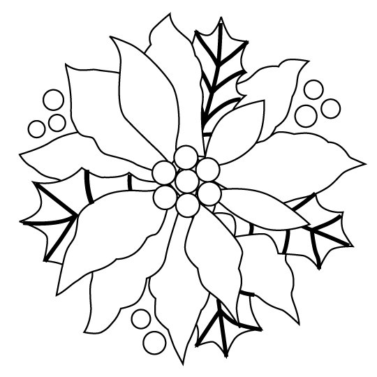 Christmas Poinsettia Coloring Printables