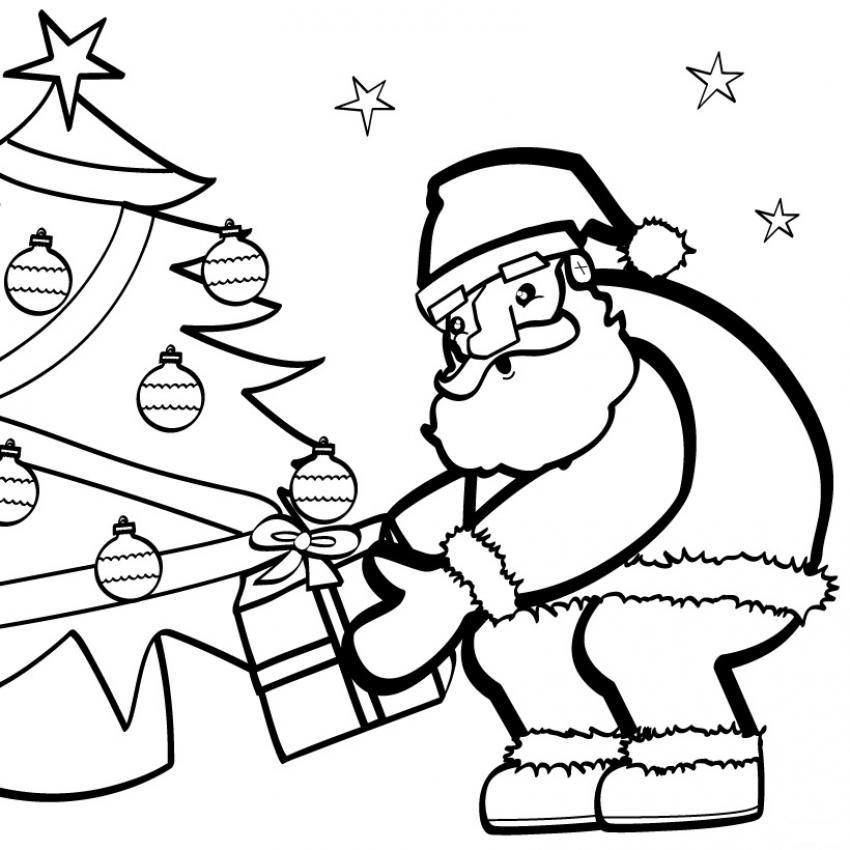 Dibujos de Papá Noel para colorear (I)