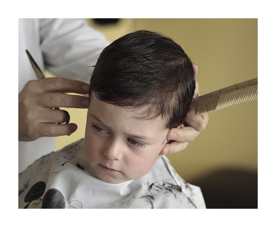 corte de cabello en un niño