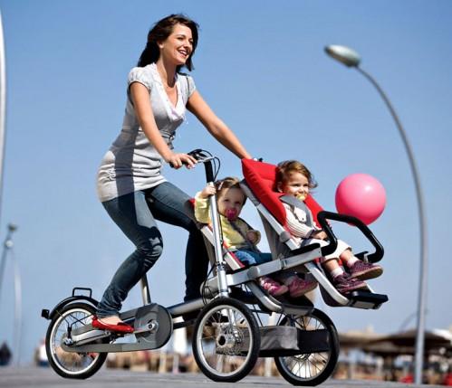 pasear en bici con el bebé