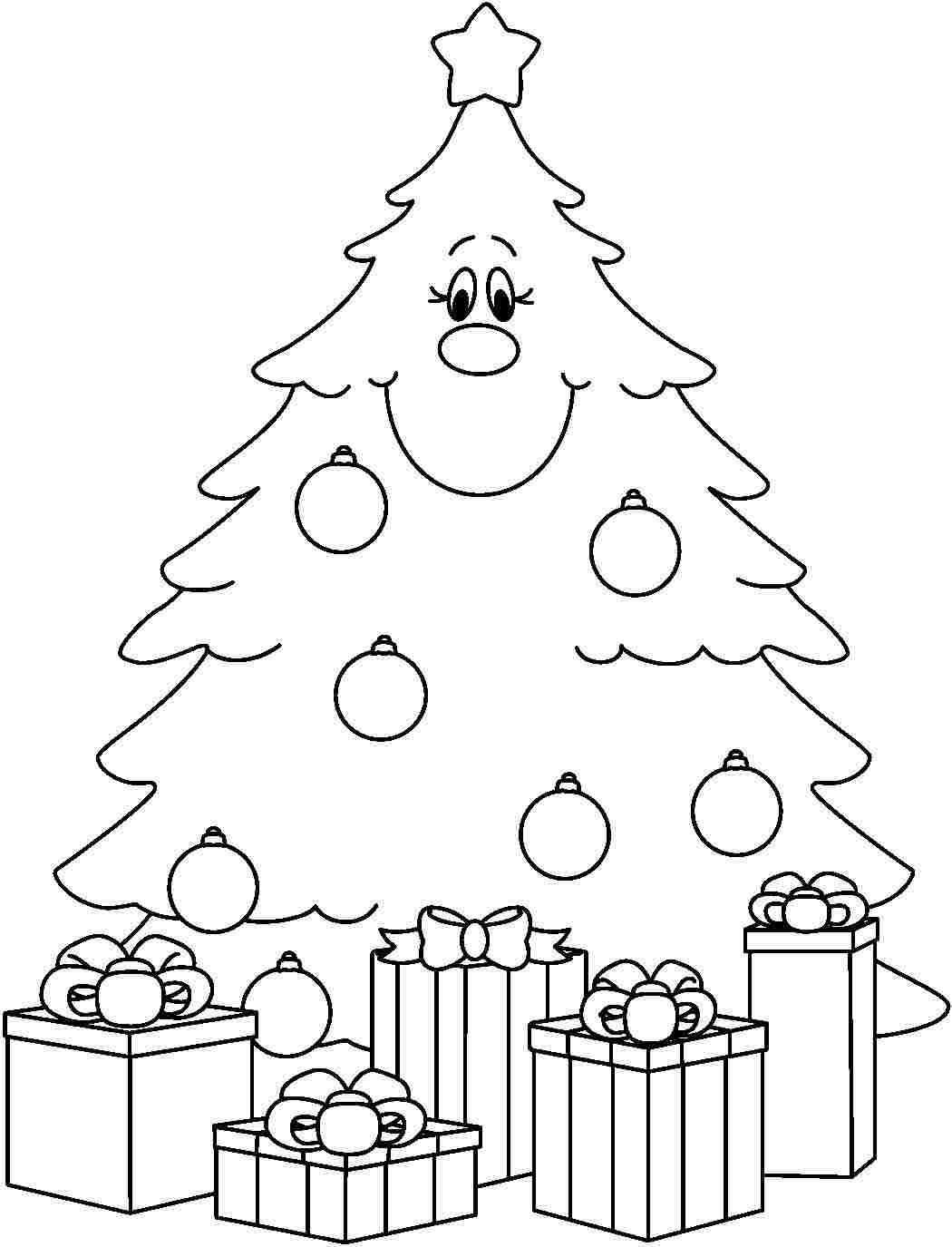 Arbol De Navidad Para Colorear. Rbol De Navidad Para Colorear Y ...