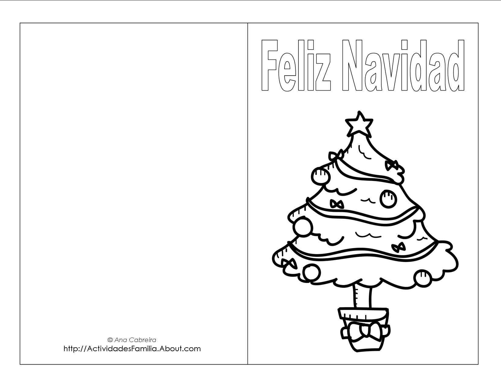 Dibujos navide os para colorear descarga gratis - Dibujos tarjetas navidenas ...
