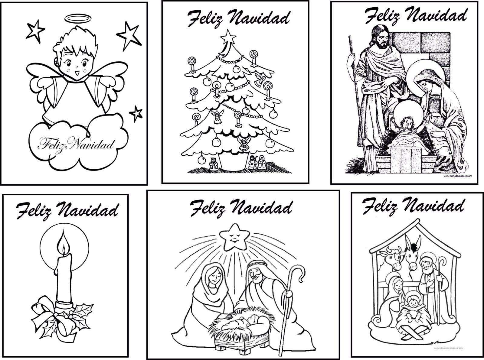 Dibujos navide os para colorear descarga gratis - Dibujos postales navidad ninos ...