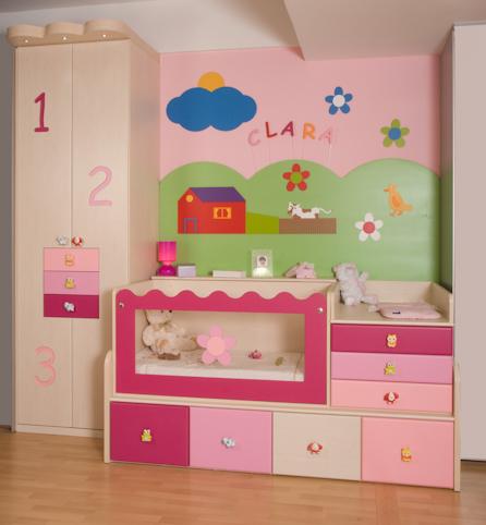 Dormitorio rosa - Habitacion pequena nina ...