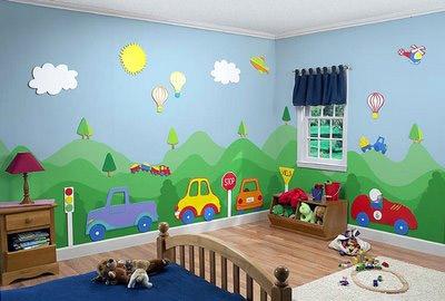Decora la habitaci n de un ni o con un tema ii - Pintar habitacion infantil nino ...
