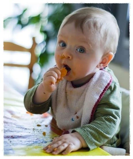 Mi bebé se niega a comer trozos