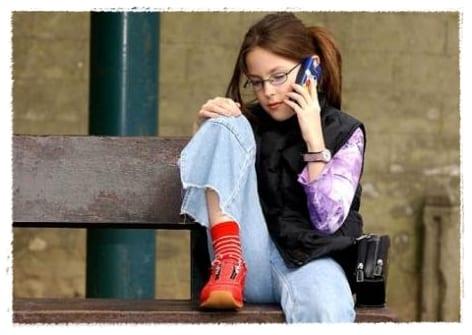 El telefono movil y los niños