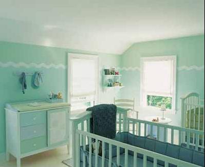 La decoraci n del curto del beb colores predominantes - Habitaciones de color verde ...