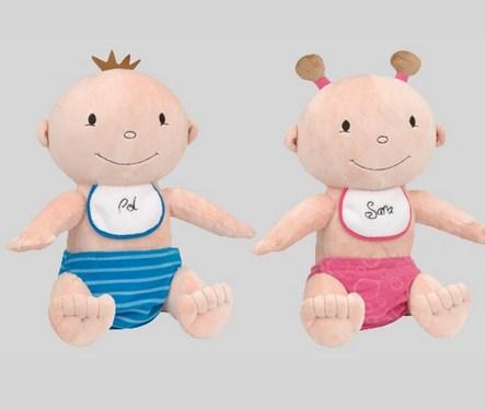 muñecos Pol y Sara de Bebedué