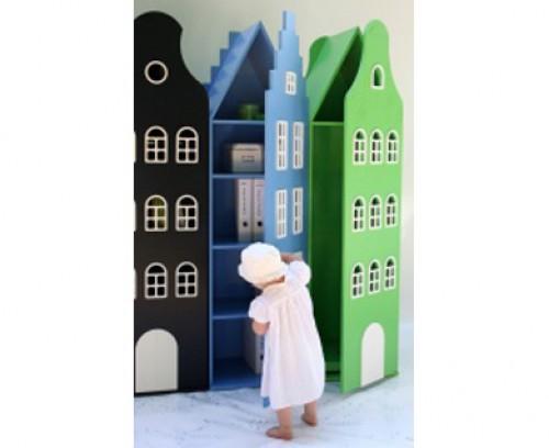 Armarios con formas de edificios