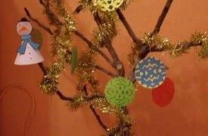 Árbol de Navidad decorado