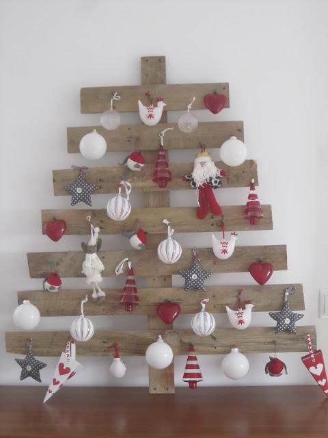 Árbol de Navidad de tablas de palets