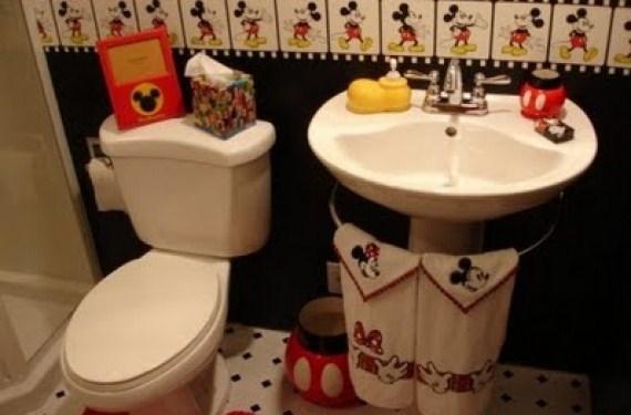 Dibujos animados en el baño