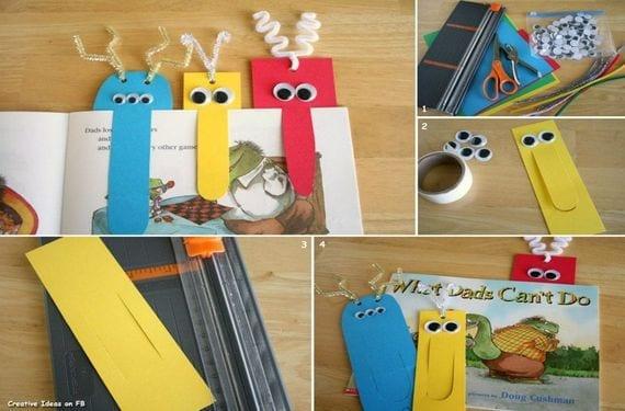 Realiza un marcador de libros infantiles en forma de monstruo