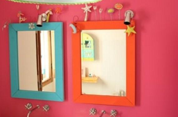 C mo decorar el ba o de nuestros hijos de forma original - Como decorar un espejo de bano ...