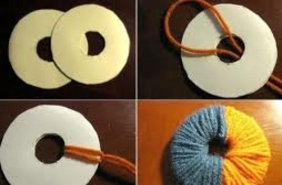 Proceso para hacer la bola de lana