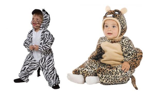 Disfraz vaca y tigre