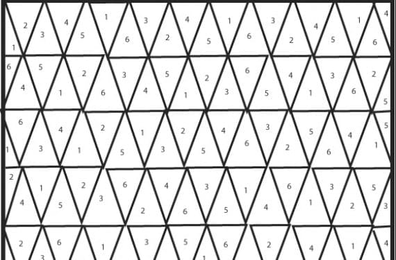 Patrón manta de triángulos