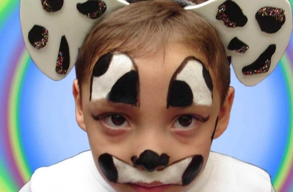Maquillaje y complementos de vaca