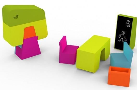 muebles para niños foam-tek, muebles un diseño muy divertido - Muebles Para Ninos