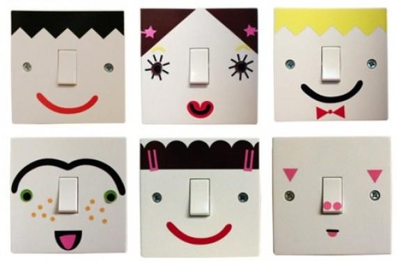 Decoración interruptores de luz