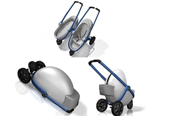 Carro de bebé futurista