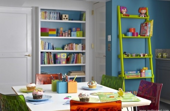Decoración de la sala de juegos de los niños