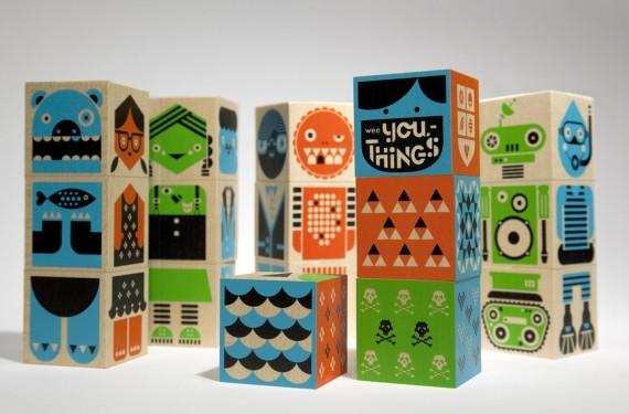 Cubos de madera Wee-Society