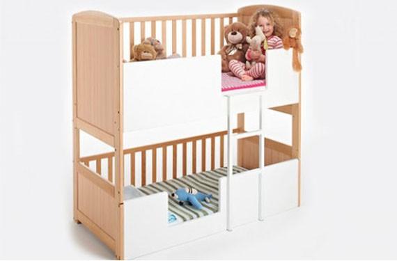 Nueva cama litera bunkcot para ahorrar espacio con el - Literas para bebes ...