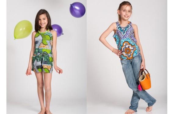 Tendencias africanas y retros en vestidos de niñas para el Verano