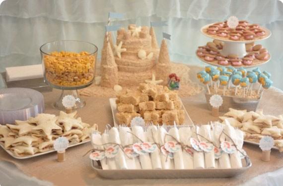 Castillo de arena comestible