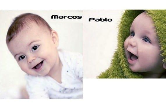 top five de nombres de bebés