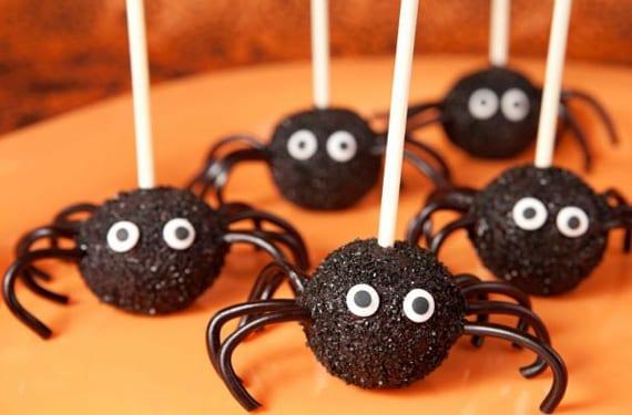 piruletas de araña Halloween