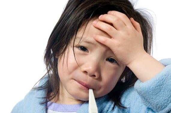 Resfriado o gripe en niños