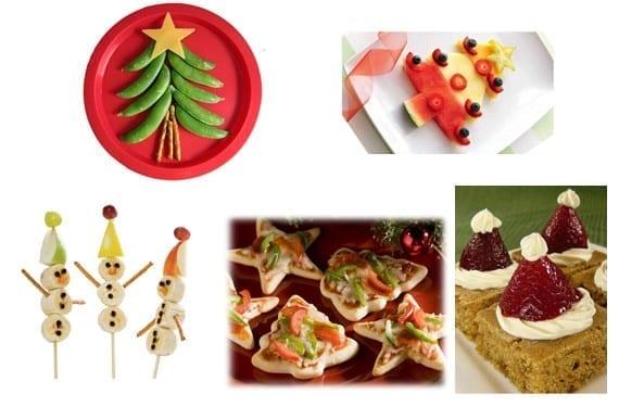 Comida de navidad con niños