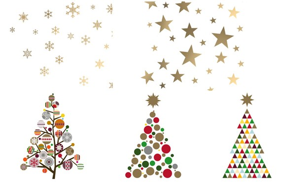 Vinilos infantiles de navidad decorar las paredes acordes - Arbol de navidad infantil ...