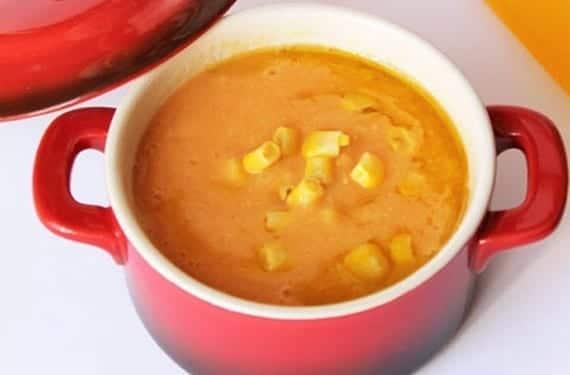 Crema de patata y maíz