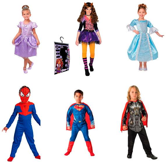 Disfraces de superhéroes y princesas