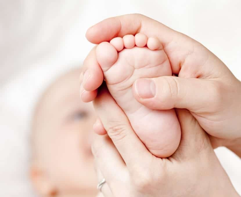 Masaje en los bebés