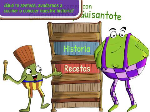 A comer con Guisantito y Guisantote, app para iPad