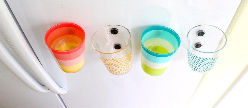 DIY: Vasos magnéticos para tener el agua siempre a mano