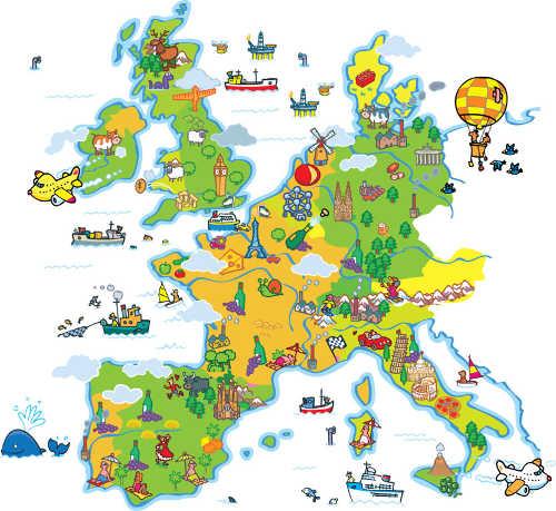 MagScape papel pintado magnetico Mapa Europa