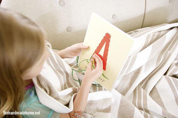 Manualidades con niños - Abecedario infantil para aprender y decorar