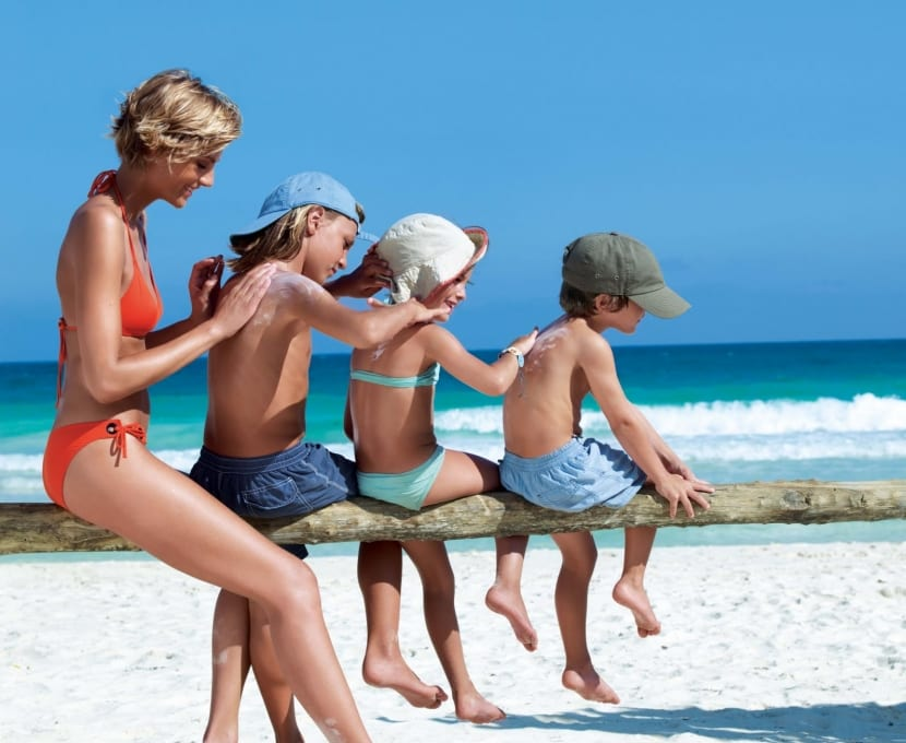 Protección solar en niños