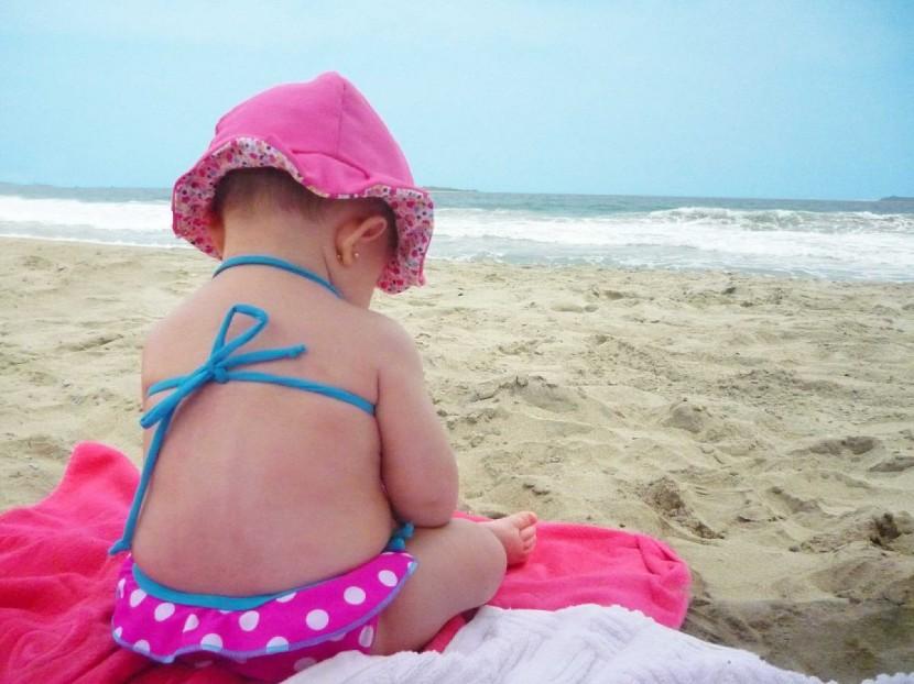 Exposición al Sol en bebés
