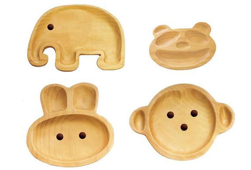 Platos madera bebes