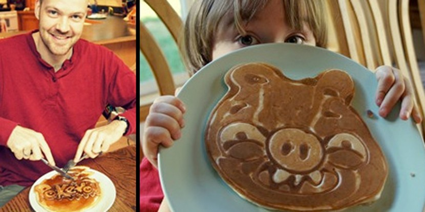 Desayuno con pancake para niños