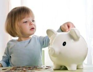Ahorro en los niños